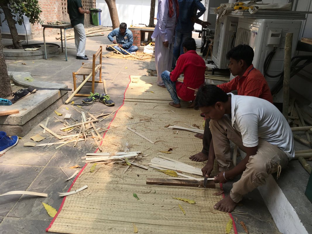 Design & Skill Upgradation Training workshop in Bamboo: Day 4